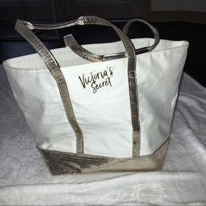 NWOT Victoria's Secret Gold Sequin Glitter Tote